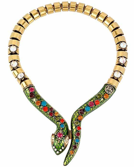 Betsey Johnson St. Barts Stone Snake Necklace