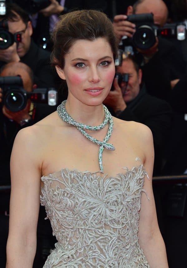 Jessica Biel at the premiere of 'Inside Llewyn Davis' during the 66th Cannes Film Festival in Cannes, France, on May 19, 2013