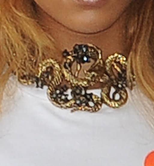 Rihanna's snake necklace