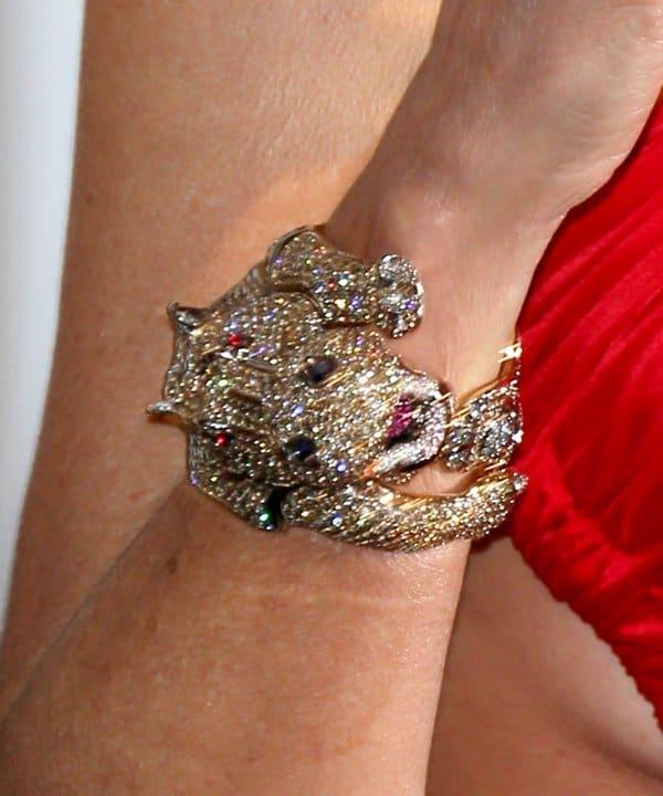 Sharon Stone's snake bracelet