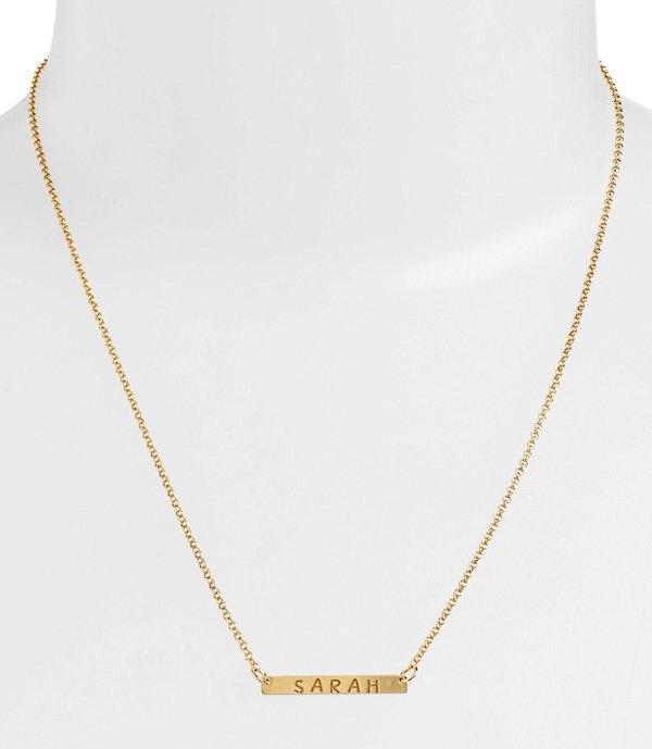 Agent Vivo Personalized Bar Monogram Necklace