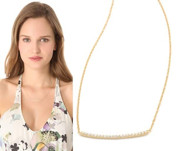 Gorjana Taner Pave Bar Necklace3