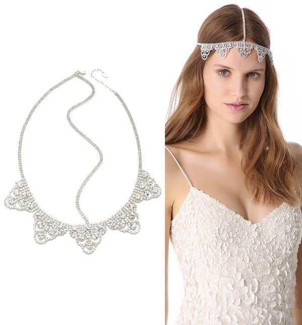 LELET NY Lattice Lace Crystal Headband3