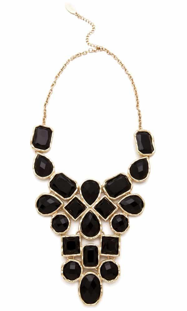 Adia Kibur Stone Bib Necklace