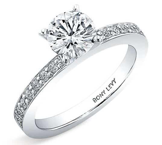 Bony Levy 'Bridal' Channel Set Diamond Semi Mount Ring