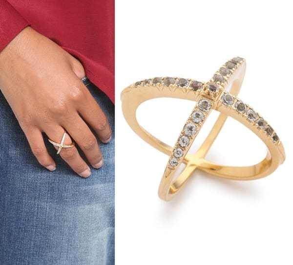 Elizabeth and James Windrose Pave Ring3