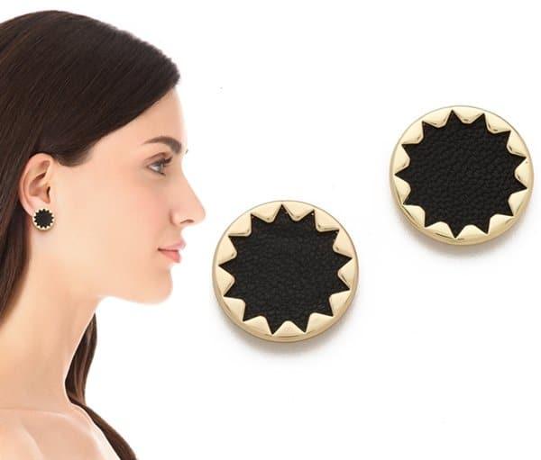 House of Harlow 1960 Sunburst Button Earrings3
