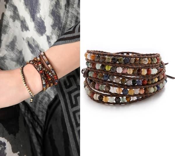 Chan Luu Semi Precious Stone Wrap Bracelet3