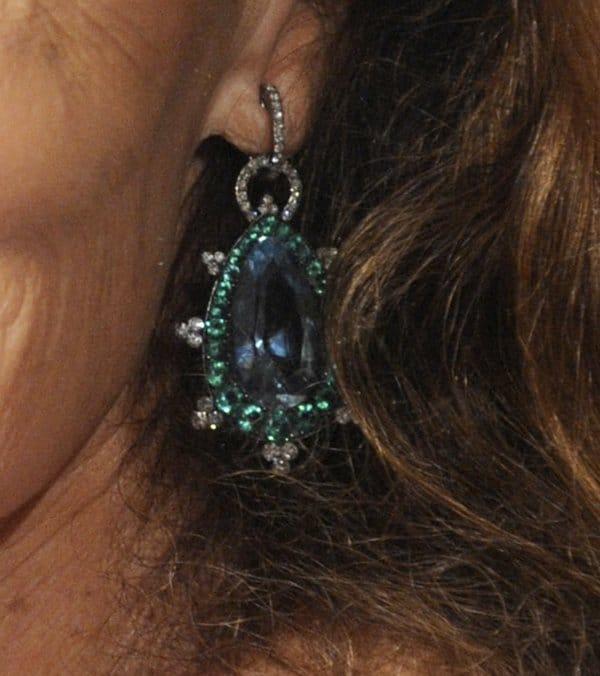 Diane von Furstenberg'sfestive-looking statement earrings