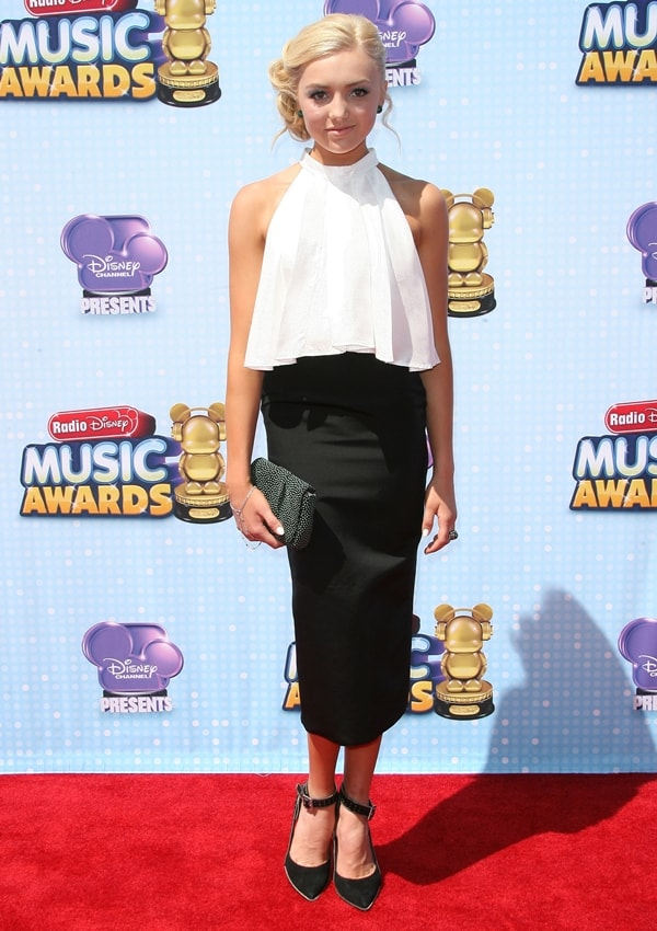 Peyton List at the 2014 Disney Music Awards held at the Nokia Theatre in Los Angeles on April 27, 2014
