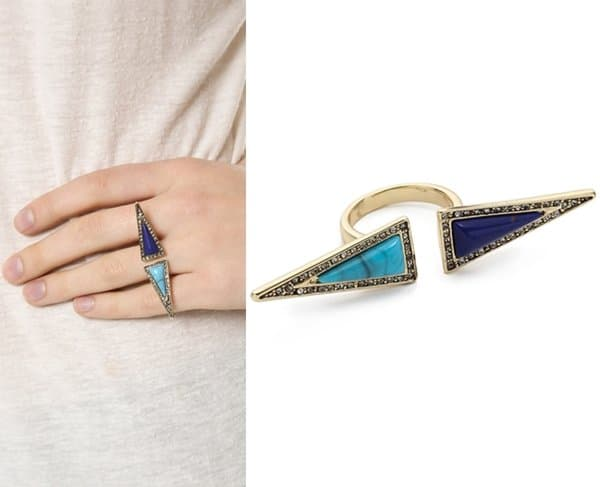House of Harlow 1960 Isosceles Reflection Ring