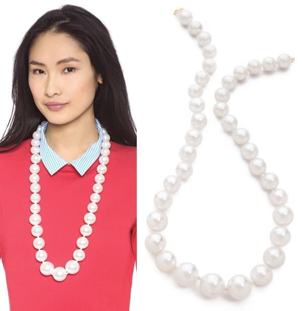 Kenneth Jay Lane Large Faux Pearl Necklace3