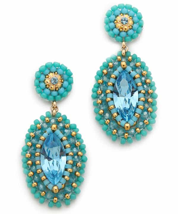 Miguel Ases Marquis Beaded Earrings