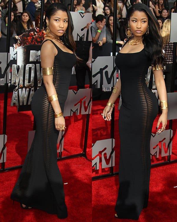 Nicki Minaj at the 2014 MTV Movie Awards held at Nokia Theatre L.A. Live in Los Angeles on April 13, 2014