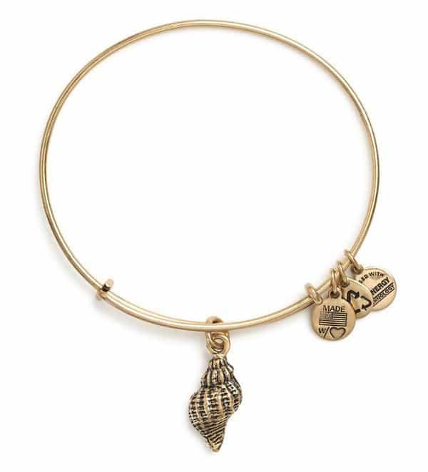 Conch Shell Charm Bangle