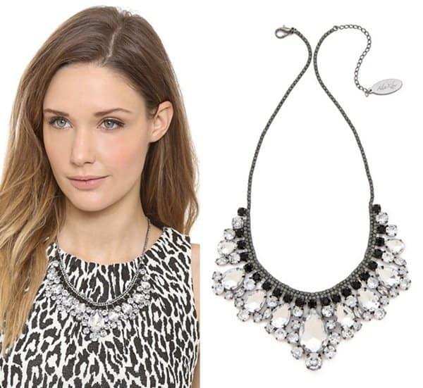 Adia Kibur Crystal Fringe Necklace