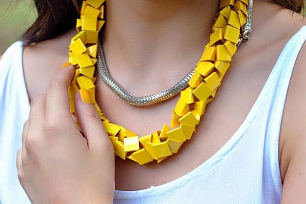 Amparo's gorgeous yellow necklace matched her nails