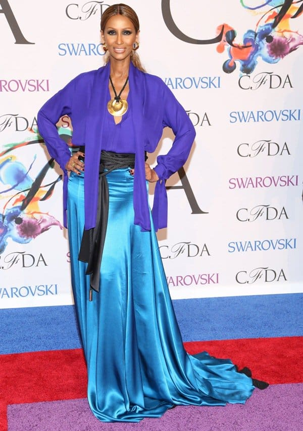 Iman at the 2014 CFDA Awards held at Lincoln Center's Alice Tully Hall in New York City on June 2, 2014