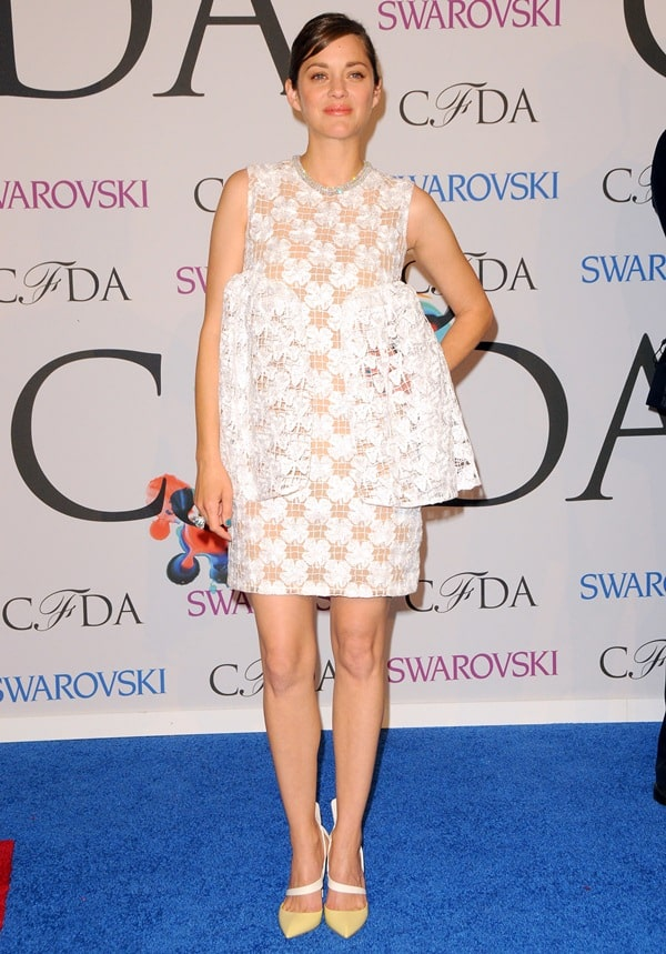 Marion Cotillard at the 2014 CFDA Awards held at Lincoln Center's Alice Tully Hall in New York City on June 2, 2014