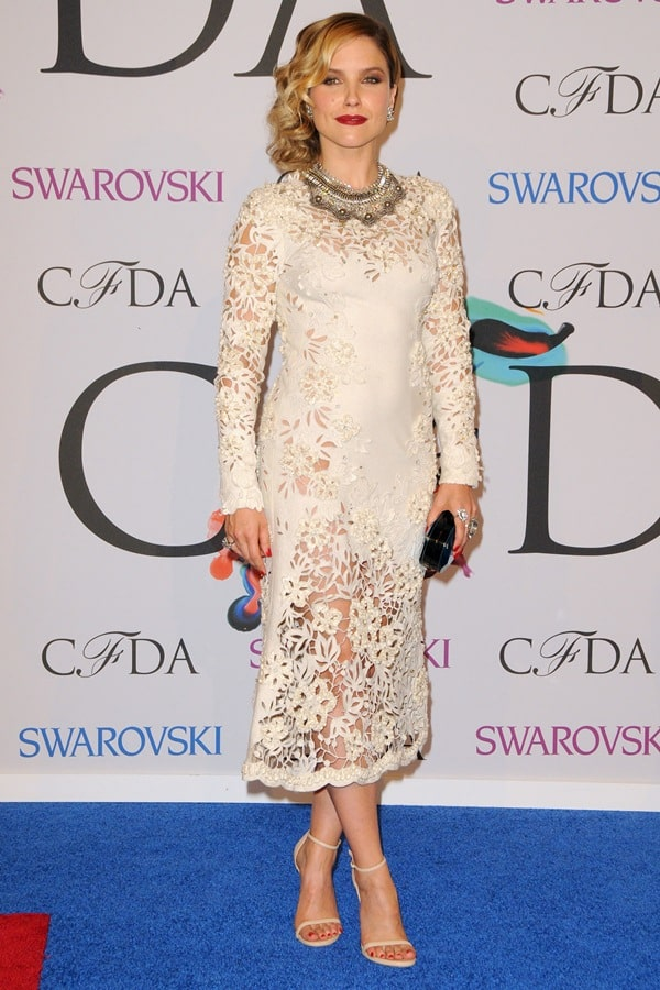Sophia Bush at the 2014 CFDA Awards held at Lincoln Center's Alice Tully Hall in New York City on June 2, 2014