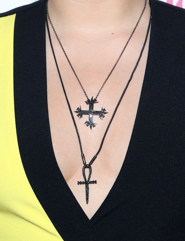 Demi layered cross and ankh necklaces