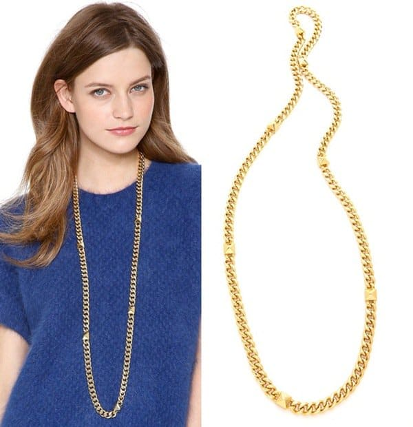 Fallon Jewelry Extra Long Pyramid Stand Necklace