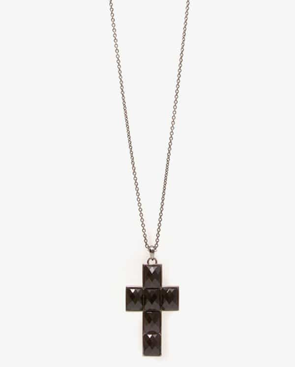 Forever 21 Bejeweled Cross Necklace