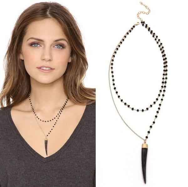 Heather Hawkins Bone Tusk Necklace3
