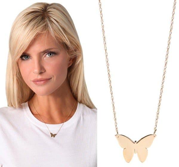 Jennifer Zeuner Jewelry Integrated Butterfly Necklace3