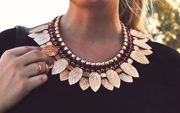 Katarzyna's necklace is inspired by ancient Greek accessories