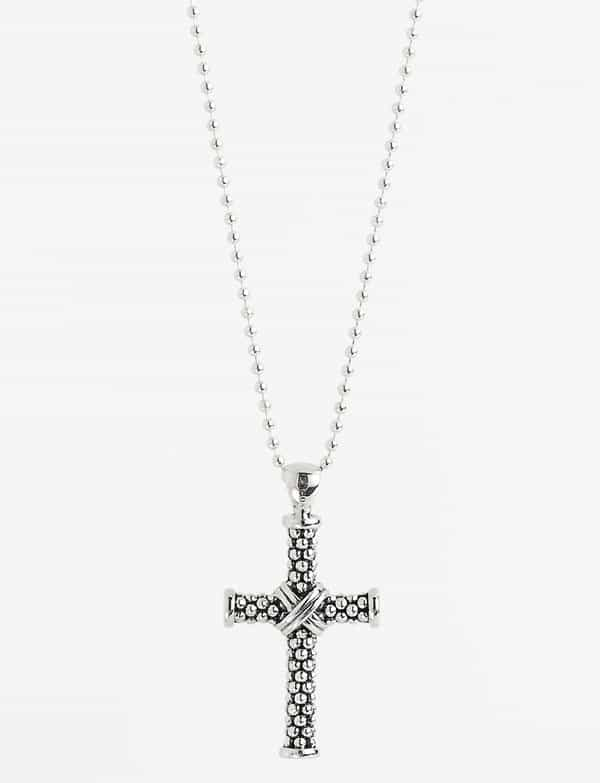 Lagos Caviar Long Pendant Necklace