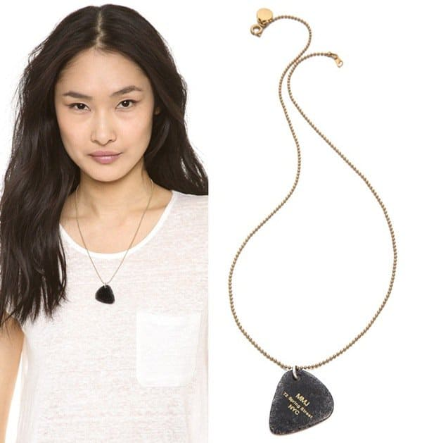 Marc by Marc Jacobs Guitar Pick Necklace3