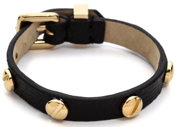 Marc by Marc Jacobs Srew Leather Bracelet