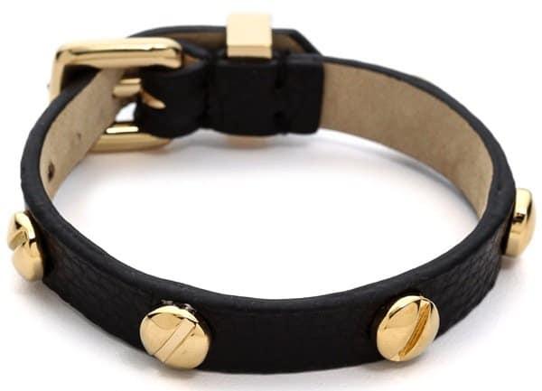Marc by Marc Jacobs Srew Leather Bracelet