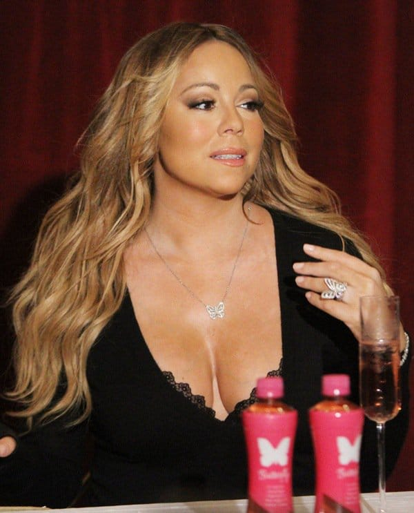 Mariah Carey Wears Butterfly Jewelry At Launch Of New