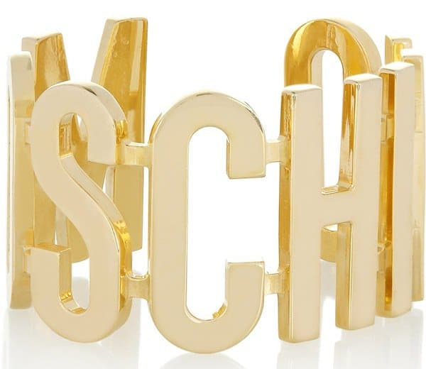 Moschino V&A Gold-Plated Cuff