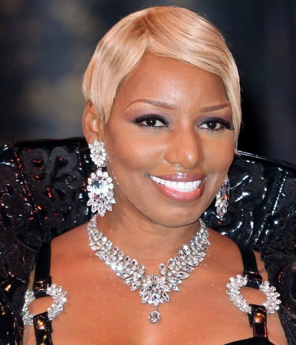 Nene Leaks was decorated with large-stoned jewelry