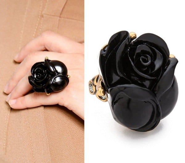 Oscar de la Renta Resin Rose Ring