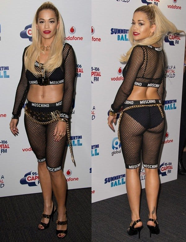 Rita Ora at the Capital FM Summertime Ball 2014 held at Wembley Arena in London, England, on June 21, 2014