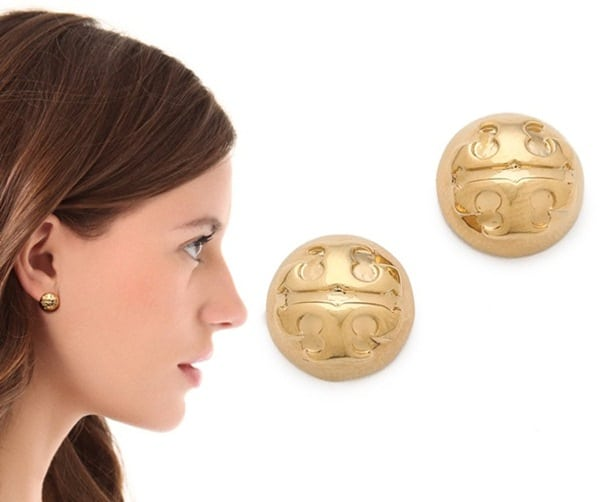 Tory Burch Small Domed Studs3