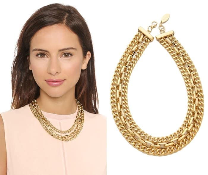 Adia Kibur Chain Layer Necklace3