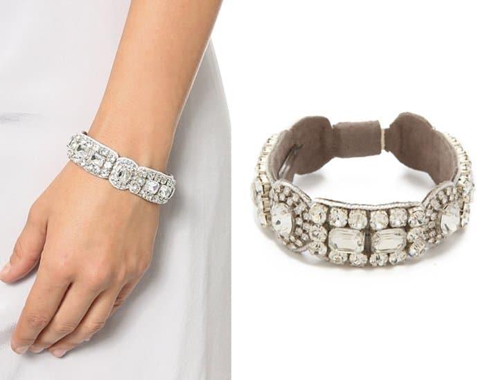 Deepa Gurnani Crystal Circle Bracelet3