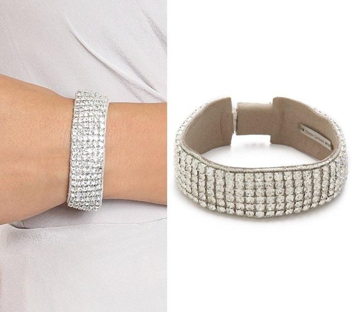 Deepa Gurnani Crystal Woven Bracelet3