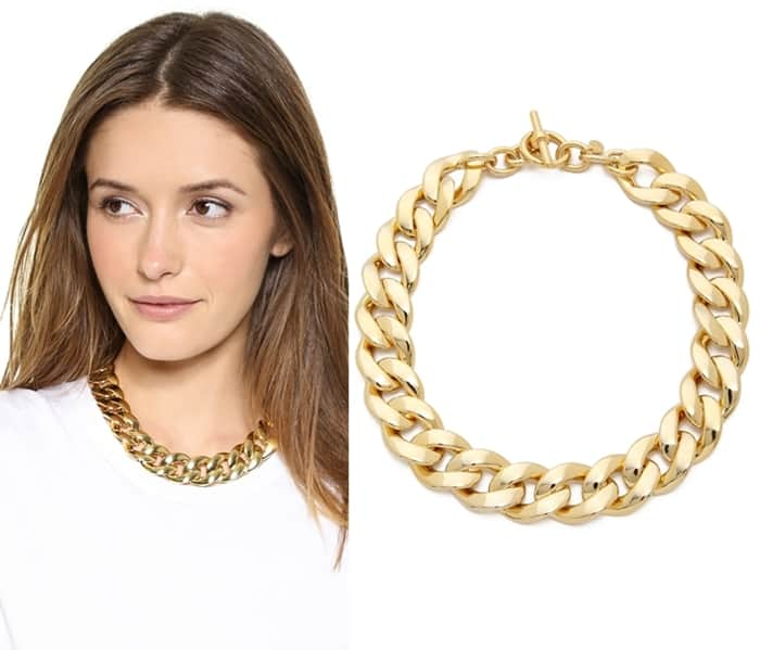 Michael Kors Curb Chain Toggle Necklace3