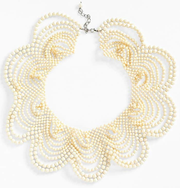 Natasha Couture Beaded Collar Necklace