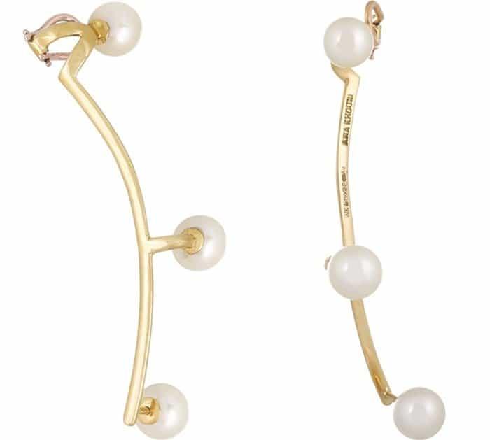 Ana Khouri Jane 18-Karat Gold Saltwater Pearl Ear Cuff4