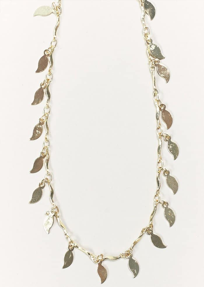Emerald Duv Gold Twinkle Necklace