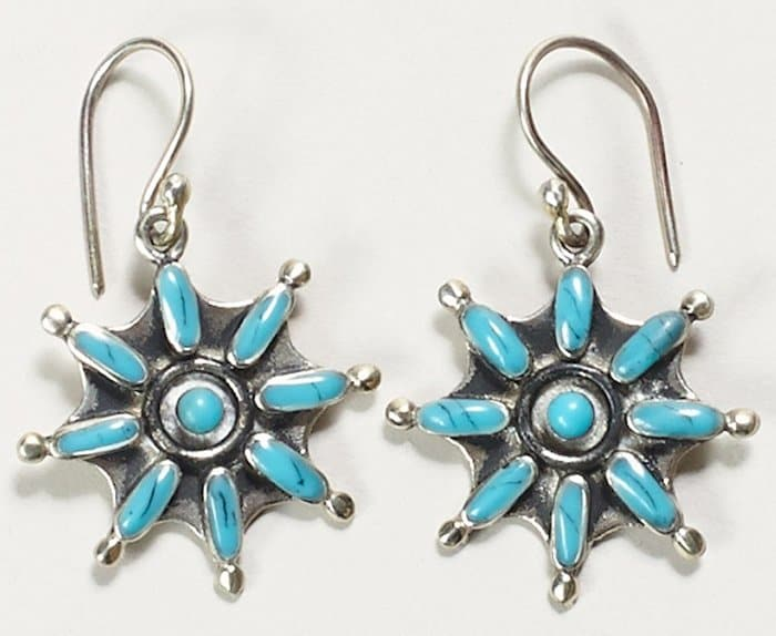 Emerald Duv Silver Campeche Earrings