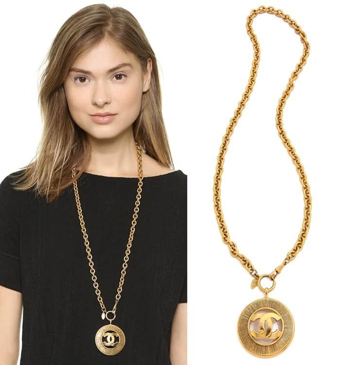 Vintage Chanel CC Burst Necklace3