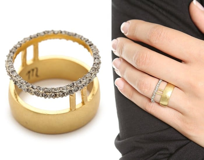 Madewell Pave Double Ring